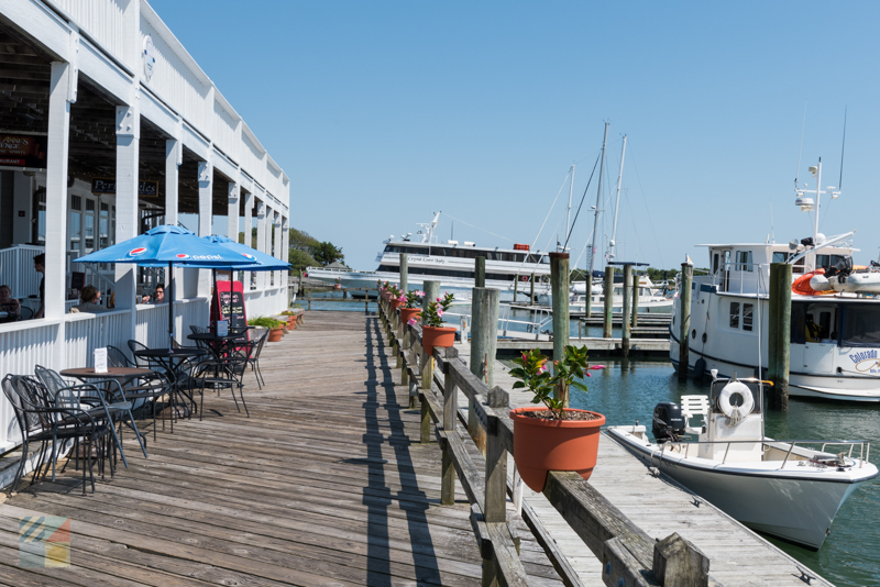 Waterfront restaurant on Front Street in downtown Beaufort NC