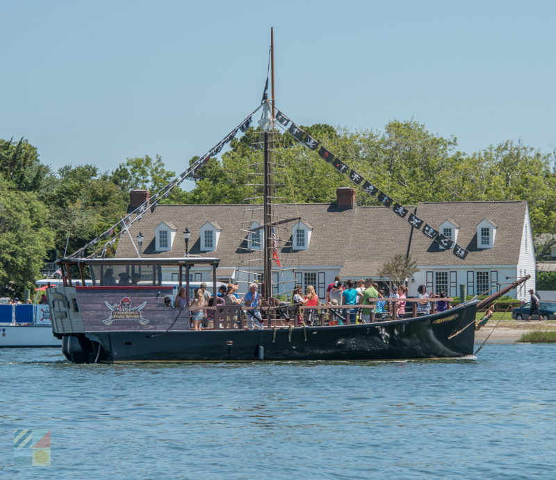 A pirate ship tour in Beaufort NC