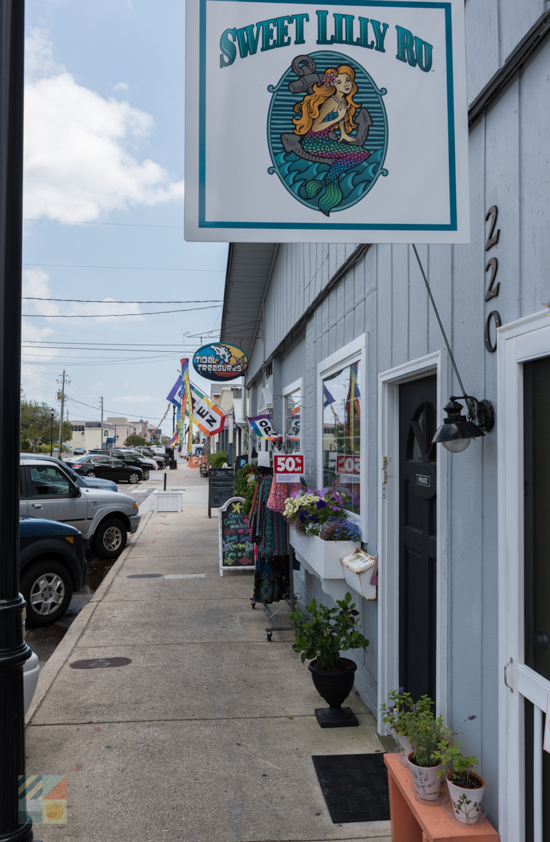 Downtown Beaufort NC shops