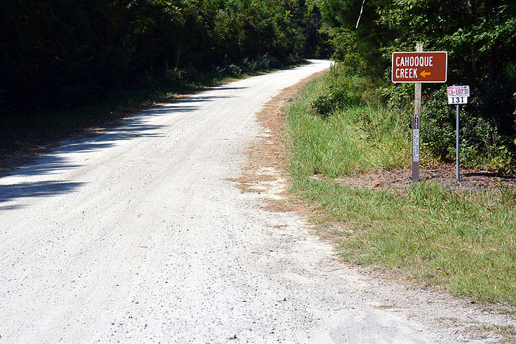 Cahooque Creek Recreational Area sign