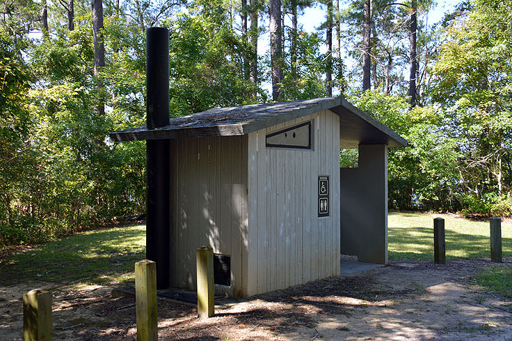 Restroom facilities at Cahooque Creek Recreational Area