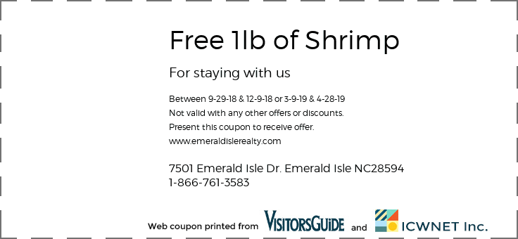Free 1lb of Shrimp