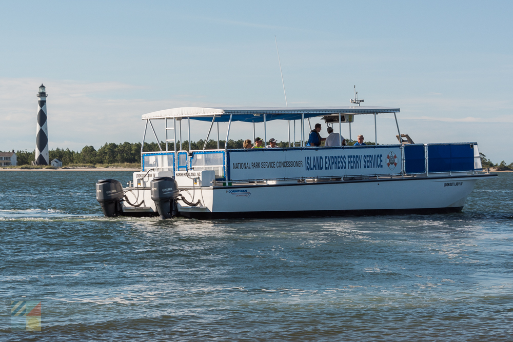 Shackleford Banks and Cape Lookout ferry